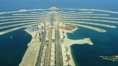 Aerial Golden Mile, Palm Jumeirah, Dubai — Stock Video