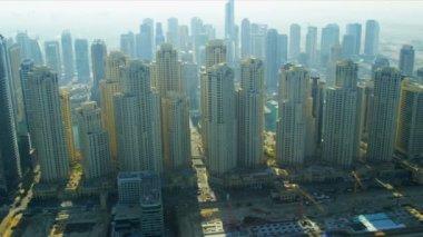 Aerial view Jumeirah Beach, Dubai — Stock Video