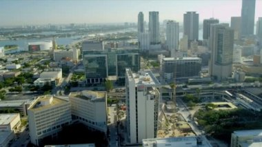 Downtown Miami City Financial District — Vídeo Stock