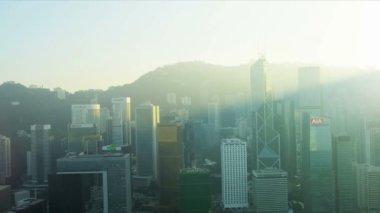 Aerial View of Hong Kong City — Stock Video