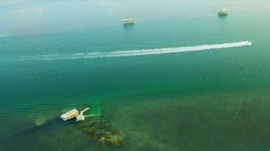 Stiltsville Florida havadan görünümü — Stok video