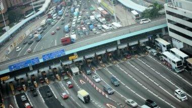 Road traffic in Hong Kong — Stock Video