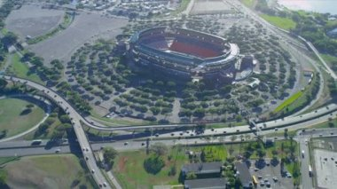 Aerial view Aloha Stadium, Honolulu, Hawaii — Stock Video