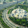 Aerial view Zabeel entertainment park, Dubai — Stock Video #51700367