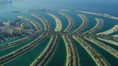 Aerial view of Palm Jumeirah, Dubai — Stock Video