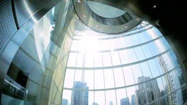 Elevator in modern skyscraper building — Stock Video