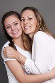 Güzel sevgi dolu bir anne ve kızı — Stok fotoğraf