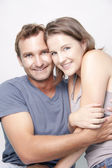 Loving Couple hugging each other — Stock Photo