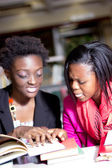 African students Discussing Assignment Project — Stock Photo