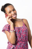 Attractive Young woman talking on the phone. — Stock Photo