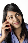 Young Indian Woman on her Cellphone talking — Stock Photo