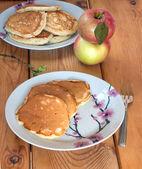 Pancakes, Pancake with Apples — Stock Photo