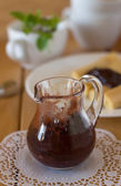 Chocolate-plum jam — Stock Photo