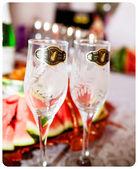 Festive table, celebratory table — Stock Photo