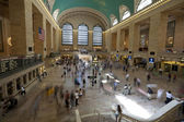 Commuters on the move at Grand Central Terminal in New York City — Photo
