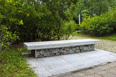 Marble bench in the park — Stock Photo