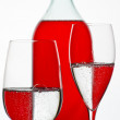 The Glass and bottle - Stock Photo