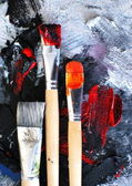 Brushes and Colors — Stock Photo
