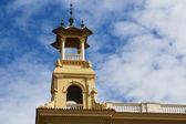 башня montjuic памятник — Стоковое фото