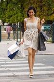 Woman shopping in Paris — Stock Photo