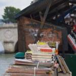 venta de libro por la Sena — Foto de Stock