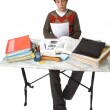Student at table general view — Stock Photo #14671891