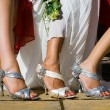 Sandals in Wedding — Stock Photo #14673223