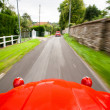 Постер, плакат: View from a fast moving Citroen 2CV
