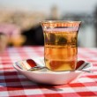 Turkish tea in glass — Stock Photo