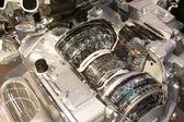 Grey engine internal — Stock Photo