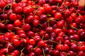 Pile of Cherries at the market — Stock Photo