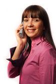 Donna al telefono — Foto Stock