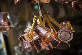 Copper coffee pots — Stock Photo