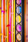 Colourful stone row — Stock Photo