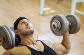 Gym training workout — Stock Photo