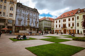 Bratislava main square — Stock Photo
