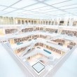 Resting in Stuttgart library — Stock Photo