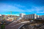 Large construction site — Stock Photo