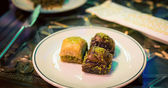 Baklava on the plate — Stock Photo