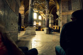 People sitting in Hagia Sophia — Stock Photo