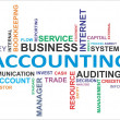 Stock Vector: Word cloud - accounting