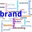 Word cloud - brand - Stock Vector