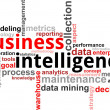 Word cloud - business intelligence — Stok Vektör