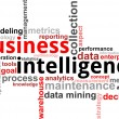 Word cloud - business intelligence - Stock Vector