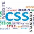 Stock Vector: Word cloud - css