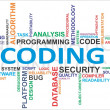 Word cloud - coding - Stock Vector