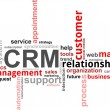 Word cloud - CRM - Stockvectorbeeld