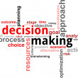 Word cloud - decision making — Stock Vector