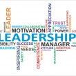 Stock Vector: Word cloud - leadership