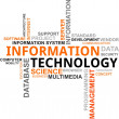 Word cloud - information technology - Stock Vector